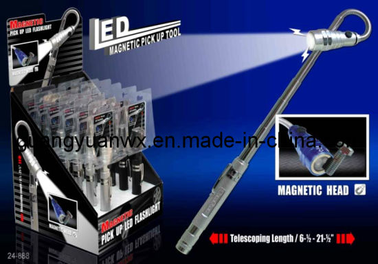 Flexible/Telescopic Magnetic Pick up Tool with LED Light (WXGY-T02)